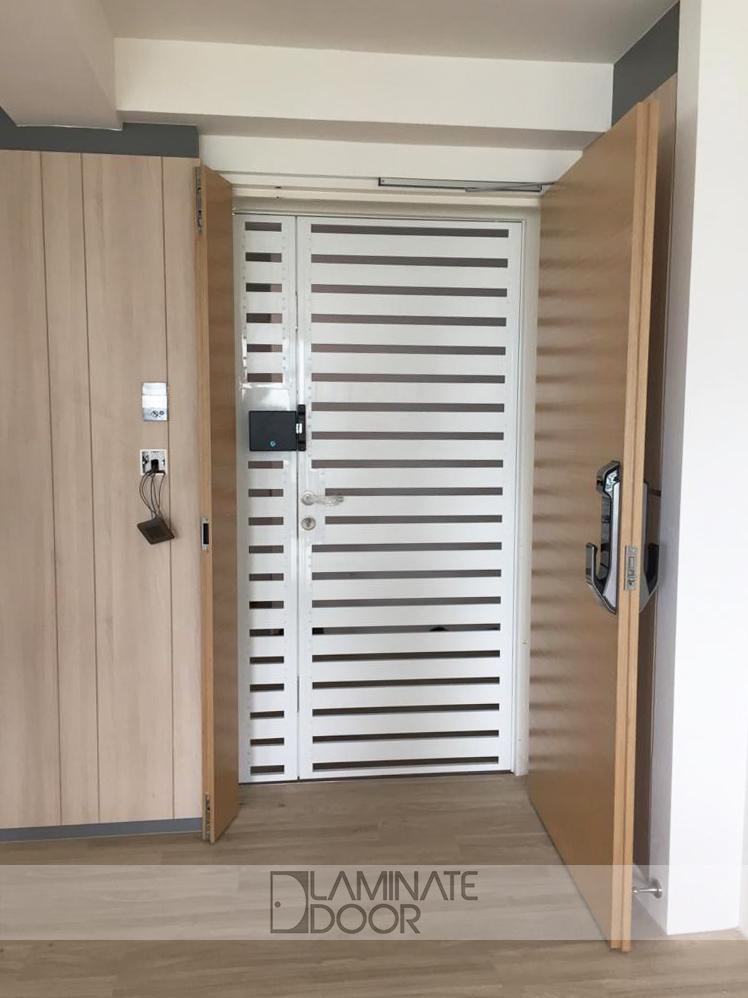White Wood Designer Gate